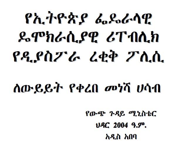 """ethiopian Diaspora policy draft"""