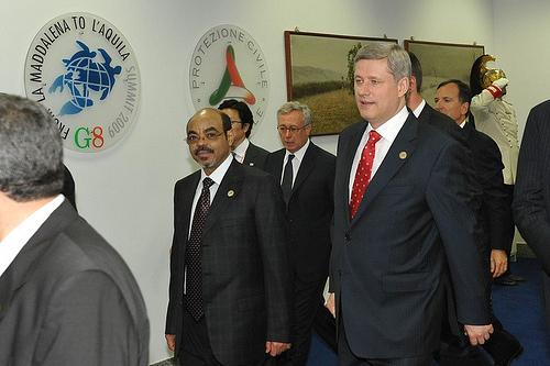 PM Meles at G-8
